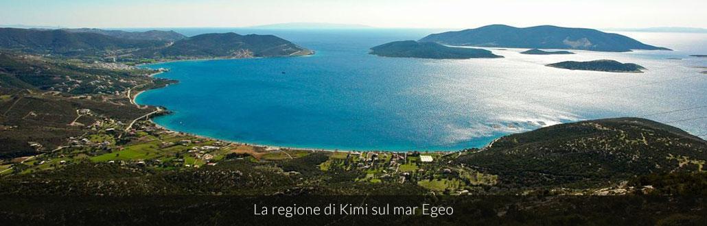 La regione di Kimi sul mar Egeo