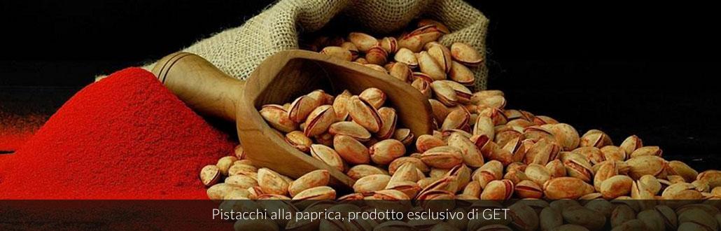 Pistacchi alla paprica, prodotto esclusivo di GET