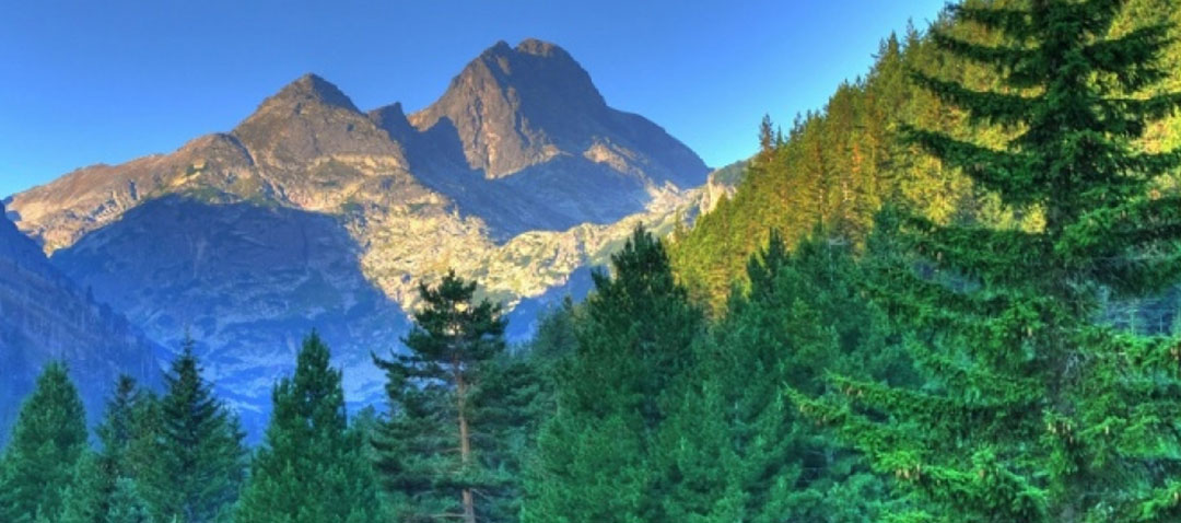 La maestosa montagna di Taygetos