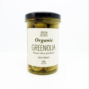 Olive greche verdi biologiche da aperitivo