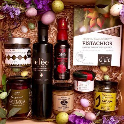 confezione pasquale di prodotti greci